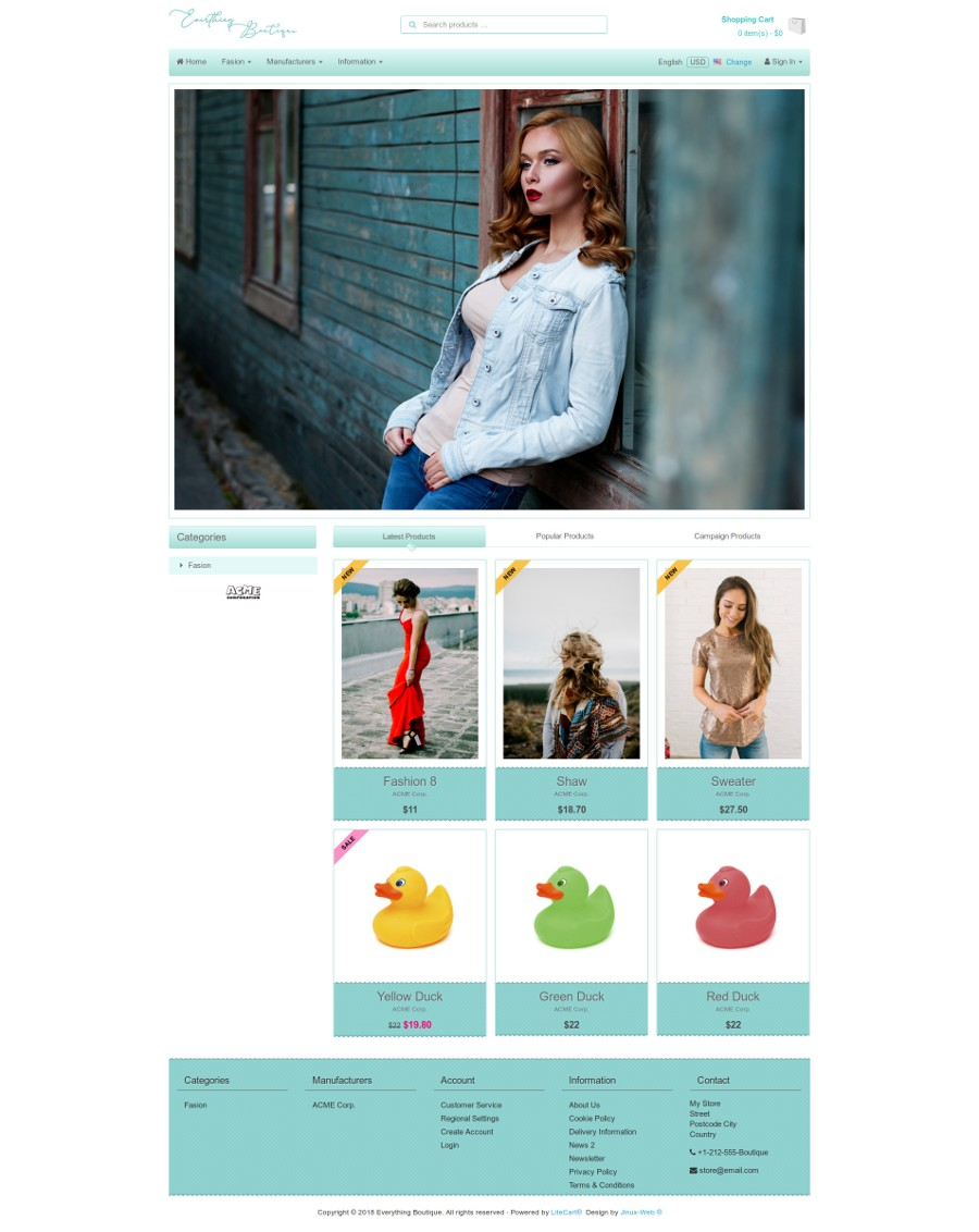 jw-boutique | LiteCart Add-ons